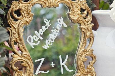 Espejito, espejito… Decoración con espejos para una boda muy glam y mágica