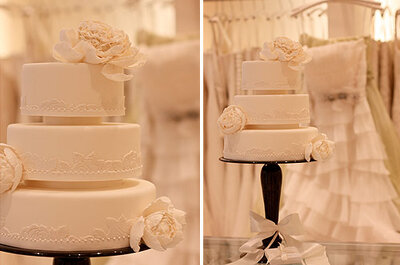Un pastel de boda inspirado en Vera Wang