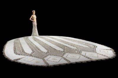 El vestido de novia más pesado de todos los tiempos... ¡Impresionante!