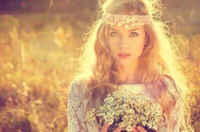 El estilismo de la semana: ¡Sé una novia estilo boho!
