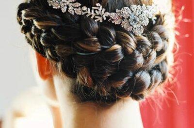 Тенденции на свадебные прически 2015