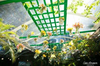 Real Wedding: decoração floral em rosa, verde e amarelo