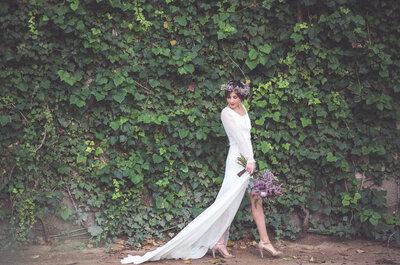 Sencillez + romanticismo dan como resultado vestidos de novia que enamoran