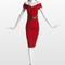 Vestido corto en rojo con hombros descubiertos. Foto: www.lanvin.com