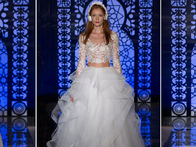 Reem Acra Fall Bridal Collection 2016 Catwalk