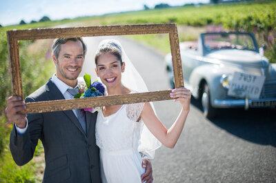 ¿Cómo decorar tu boda con marcos? ¡Una tendencia muy vintage!