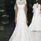 Vestido de novia 2013 con escote ilusión, sin mangas y falda con caída amplia y pesada