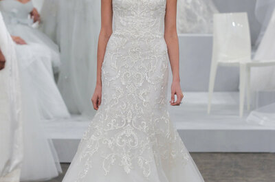 Os mais belos vestidos de noiva Monique Lhuillier 2015
