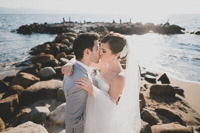 Real Wedding: Amor al natural y una hermosa playa en la ceremonia de Tania y Goru