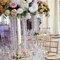 Décoration de table surprenante et fleurie.