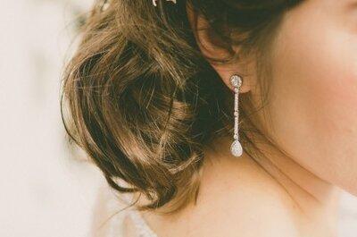 4 tips sobre cómo elegir tus aros perfectos de novia y lucir estupenda