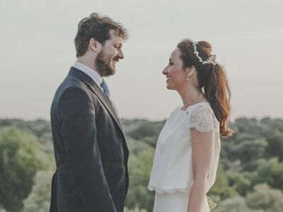 Una boda rústica con mucho corazón: el gran día de Marta y Luis