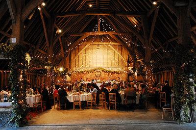 Ideas para la iluminación en una boda country