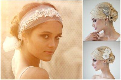 Joyas, diademas, tocados y accesorios para el pelo de la novia