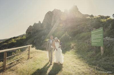 Scene da un matrimonio intimo e romantico: dalla Spagna con amore