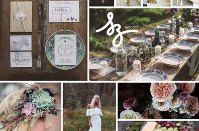 Folklor y cálido romanticismo: La inspiración idónea para una boda al natural