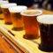 Exemplo de degustação de diferentes tipos de cervejas.