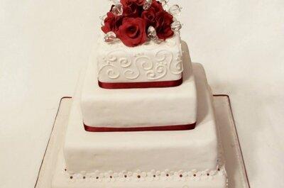 Ideas chic: tortas de novios cuadradas