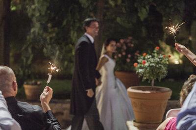 Cómo usar las bengalas en tu boda: ¡sorprende a tus invitados e ilumina el ambiente!