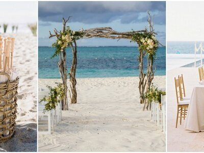 Imperdibles ideas de decoración de boda en la playa 2017. ¡Te encantarán!
