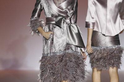 Vestidos de festa 'metalizados': para convidadas brilhantes