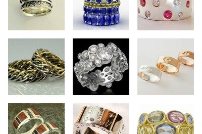 Estilos de anillos de bodas: diseños únicos con piedras coloridas