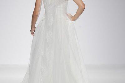 Exquisitos tejidos con acentos de color: Vestidos de novia primavera 2015 de Ana Torres