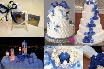Ponle un toque de color azul a tu boda