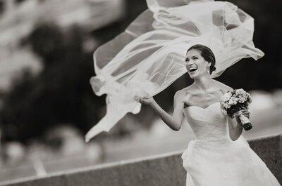 Улыбайся! Улыбающаяся невеста - это всегда прекрасно!