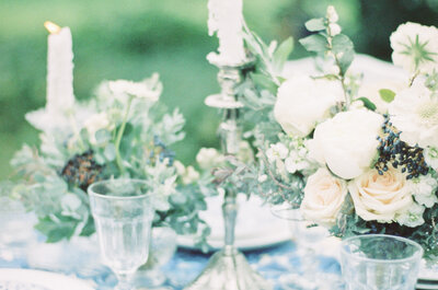 Свадебный декор в португальском стиле: игра синего цвета!