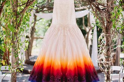 Une robe DIY, une coiffure étonnante et un mariage aux mille couleurs !