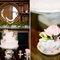 Inspiración vintage para el pastel y los centros de mesa de la boda