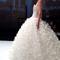 Bustier glitter ed originale cascata di inserti per la gonna proposta da Amelia Casablanca 2014. Foto via Twitter