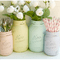 Hochzeitsdeko mit Gläsern und Vasen. Foto: Beach blues