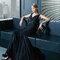 Vestido 7T213 Rosa Clará 2015 negro con escote en v.