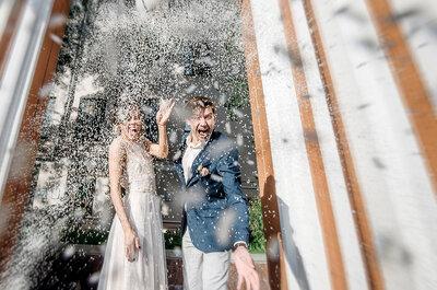 Свадебные фотографии, весело и оригинально!