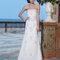 Długa suknia ślubna z odkrytymi ramionami, Foto: Sincerity Bridal 2015