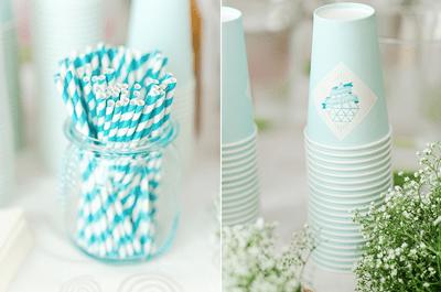 Decoración de boda con tendencia geométrica