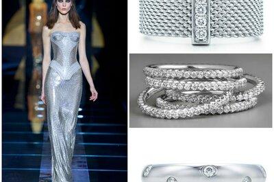 Sposa alternativa? Scegli l'argento come colore per abito e accessori!