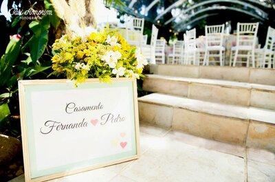 Flores rosas, verdes y amarillas: la combinación perfecta para tu boda