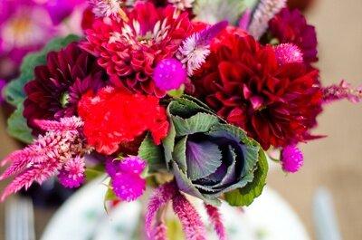 Arreglos florales en la decoración de bodas