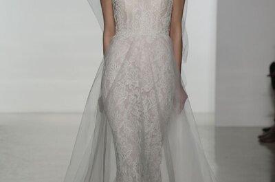 Os maravilhosos vestidos de noiva do desfile de Amsale 2015 - New York Bridal Week