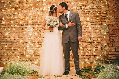 Casamento rústico de Andrezza & Kenji: LINDO, todo decorado com suculentas e em tons de verde e branco!