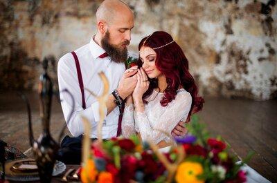 Романтичная и яркая свадьба Кристины и Олега в стиле Бохо