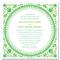 Invitación de boda en color verde esmeralda y limón