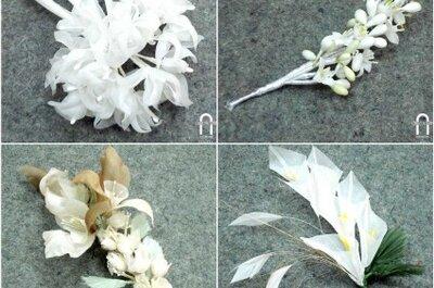 No lo pienses más y elige flores de azahar para tu tocado de novia