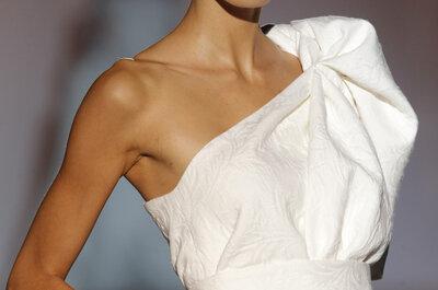 Una tendencia muy sexy: Vestidos de novia de un solo hombro