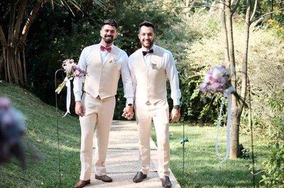 Casamento provençal de Renato & Vinicius: no campo, leve, descontraído e maravilhoso como eles!