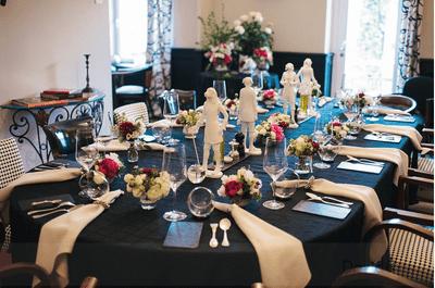 ¿Se ocupan los manteles negros para la boda?
