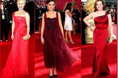 Lleva un vestido de fiesta en color rojo para 2013